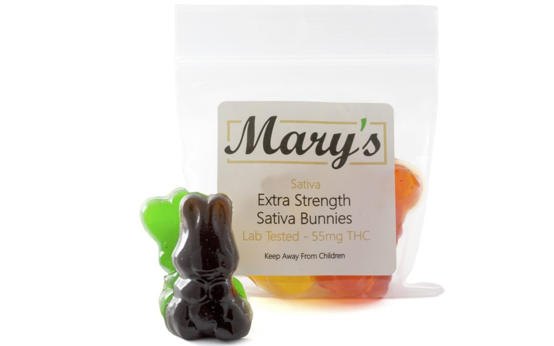 Sativa Bunnies (140mg, 300mg THC) by Mary's Medibles