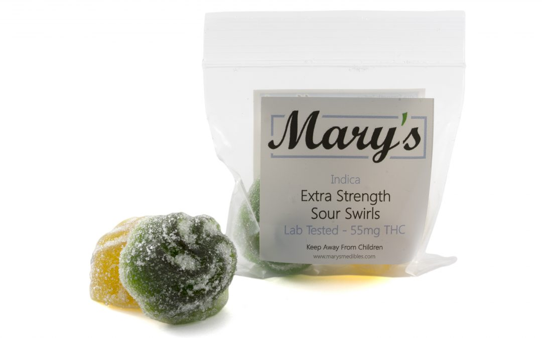 Sour Swirls (140mg THC) by Mary's Medibles