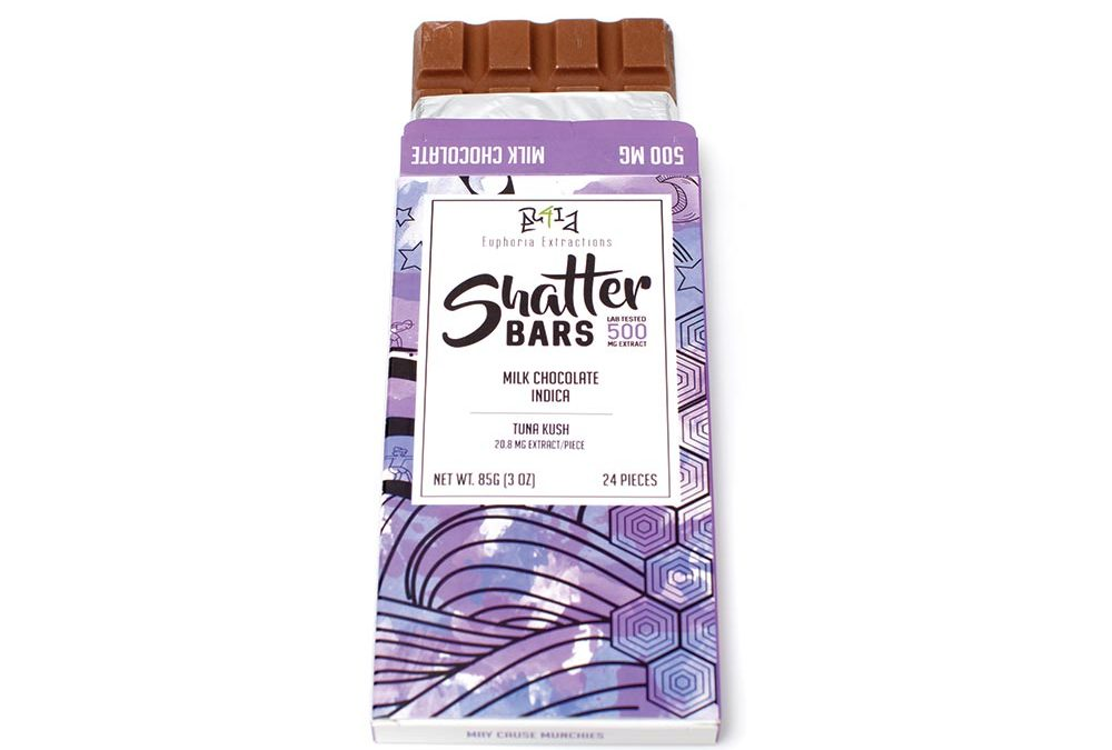 Milk Chocolate Shatter Bars (250mg/500mg THC) by Euphoria Extractions