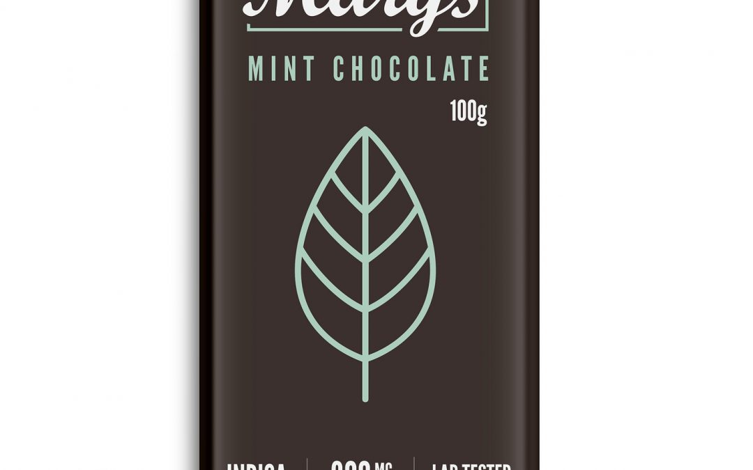Mint Chocolate Bar (300mg THC) by Mary's Medibles